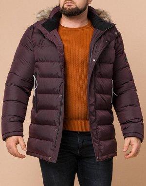 Качественная темно-бордовая куртка модель 29433