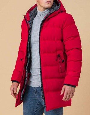 Красная куртка на зиму модель 45877