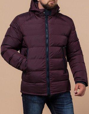 Темно-бордовая куртка практичная модель 48540