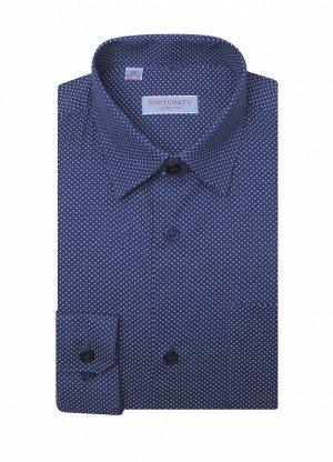 Шикарная сорочка синяя на стройного мальчика