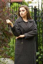 Пальто 20280  (черно-серый)