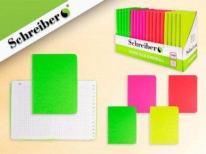 Записная книжка алфавитная НЕОН, 160 стр, 10,5x14,5 cм, 4 цвета в ассортименте NEW