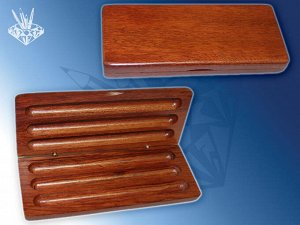 Деревянный футляр для трёх ручек