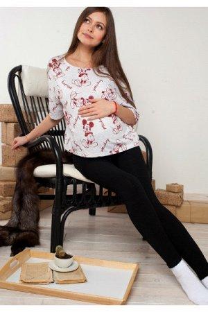 Лосины для беременных (на широком поясе)