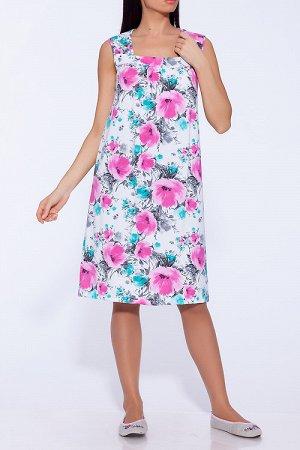 #43271 Платье Белый/розовый