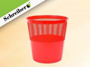 Корзина для бумаг пластиковая, цвет КРАСНЫЙ, объем 12 литров. Производство Россия