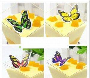"""Украшение для торта/пирожного """"Бабочки"""""""