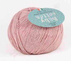 Пряжа Baby cotton 1073 пыльная роза
