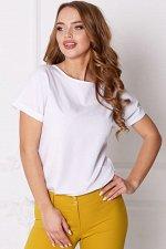 Блузка полуприлегающего силуэта цвет белый (Б-28-4)