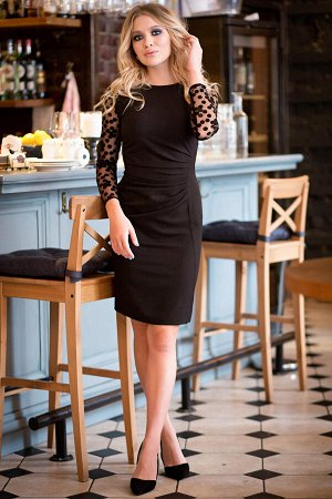 Платье Шарлиз цвет черный П-74-3