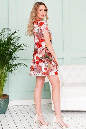 Платье Грэйс Красные Маки (П-112-8)