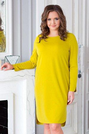 Платье Орнелла трикотаж горчица (Пб-196-1)