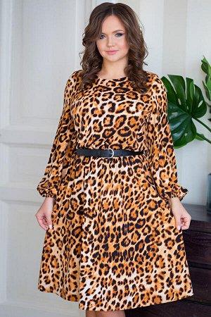 Платье Милена леопард (Пб-42-6)