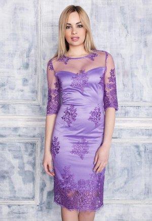 Платье Джуди цвет сиреневый (П-114-2)