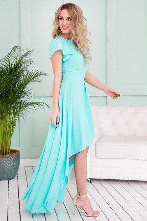 Платье Асимметрия сочная мята (П-50-3)