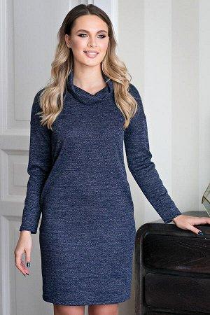 Платье из трикотажа Кейт  цвет темно-синий (Пб-188-2)
