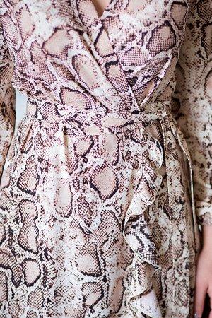 Платье с запАхом принт рептилия (П-168-3)