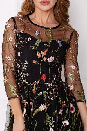 Платье Изольда цвет черный (П-140-9)