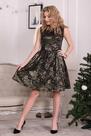 Платье Эвелина парча золото (П-118-6)