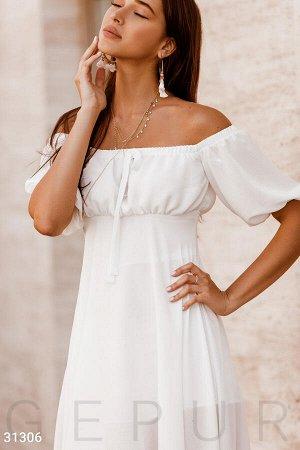 Асимметричное шифоновое платье