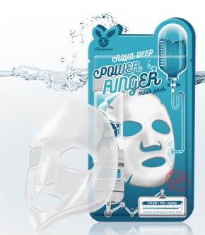 НАБОР Тканевая маска для лица УВЛАЖНЕНИЕ Aqua Deep Power Ringer Mask Pack, 10 шт