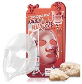 НАБОР Тканевая маска для лица КОЛЛАГЕН Collagen Deep Power Ringer Mask Pack, 10 шт