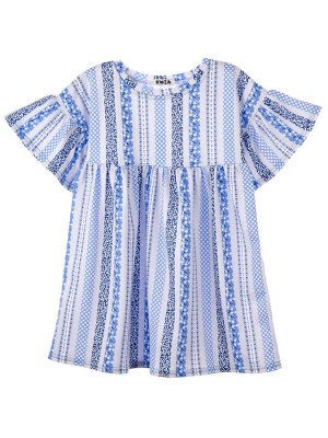 Платье 977А голубой