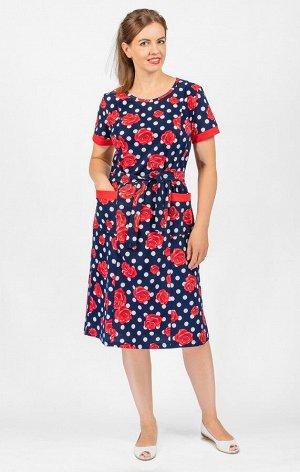 Платье с карманами, вариант 6 (528-6)