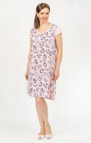 Сорочка с коротким рукавом, розовый (566-2)