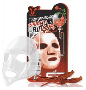 НАБОР Тканевая маска для лица КРАСНЫЙ ЖЕНЬШЕНЬ Red gInseng Deep Power Ringer Mask Pack, 10 шт