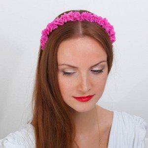 """Ободок для волос ручной работы """"Розовый"""""""