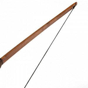 """Сувенирное деревянное оружие """"Лук традиционный"""", взрослый, коричневый, массив ясеня, 170 см"""