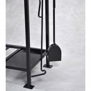 Мангал Садко 160х37х80 см, кочерга, совок, подставка под казан