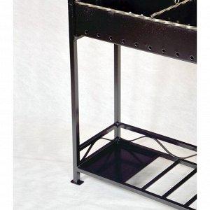 Мангал с крышей Хоттабыч 105х60х219 см, кочерга, совок, подставка под казан