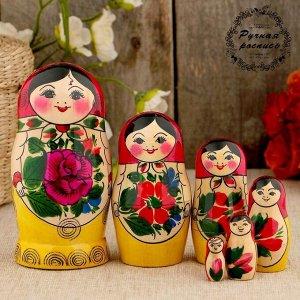 Матрёшка «Семёновская», красный платок, 6 кукольная, 12-14 см
