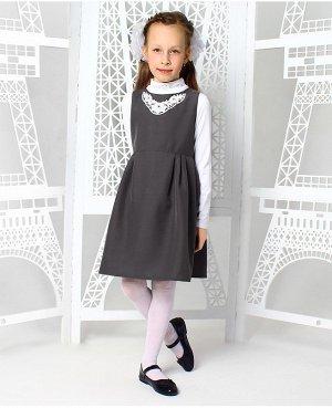 Школьный серый сарафан для девочки 73253-ДШ19