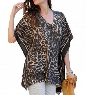 Пуловер, леопардовый