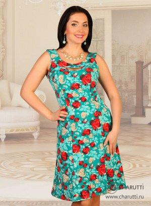 Платье Вы – произведение искусства! В таком ярком платье простого кроя сложно остаться незамеченной. Абсолютно хитовая модель. Носится с удовольствием – ткань очень хорошо и приятна. Состав: трикотаж