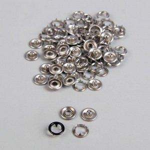 Кнопки рубашечные, d = 9,5 мм, 1000 шт, цвет чёрный
