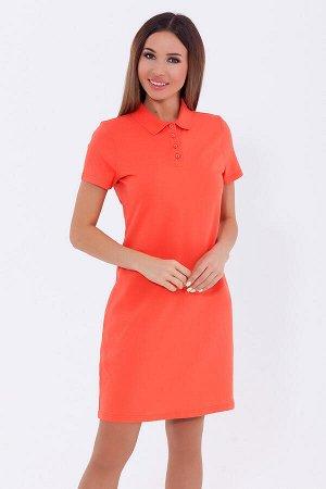 #70169 Платье (VISERDI) Ярко-коралловый