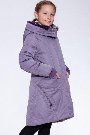 #17922 Детское пальто Сиреневый