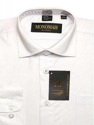 Рубашка с длинным рукавом белая р.128-134