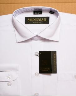 Рубашка Рубашка серая однотонная, длинный рукав.  Хлопок 90%, ПЭ 10%