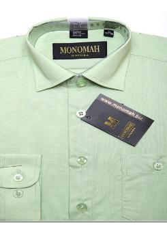 Рубашка Рубашка однотонная, длинный рукав.  Хлопок 90%, ПЭ 10%