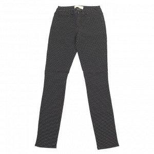 Черные женские брюки Pieces в мелкий белый горошек. Классика для любого возраста! №381