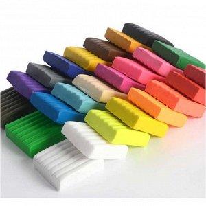 Воздушный пластилин для лепки 24 цвета*15гр