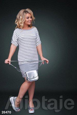 Платье-туника с вырезом лодочка