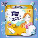 Bella For teens ultra energy deo супертонкие д/подростк. 10 шт