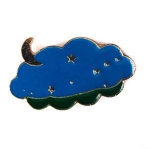 Эмалевая мини брошка (металл) «Небо»