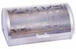 Хлебница Kamille Хлебница (нержавеющая сталь, пластик, размер: 39*28*18,5см) Польша  Материал:  -  основа и задняя стенка из нержавеющей стали;  -  крышка из пластика.